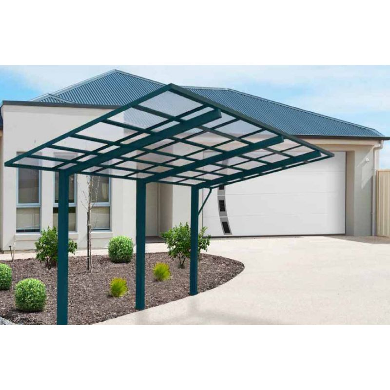 design carport berdachung bausatz aluminium 5 4m x 2 99m. Black Bedroom Furniture Sets. Home Design Ideas