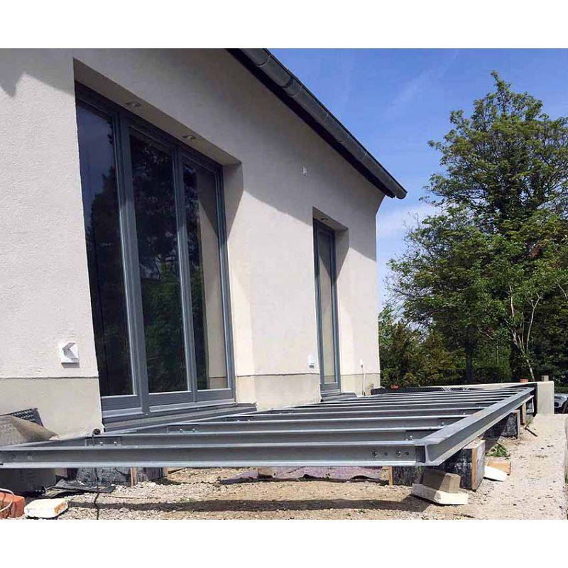 terrasse 4m 5m unterkonstruktion stahl verzinkt siku. Black Bedroom Furniture Sets. Home Design Ideas