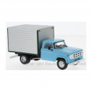 WB275T WhiteBox 1:43 Dodge D-400 Box Van, hellblau/grau 1971