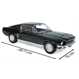 122700 Norev 1:12 Ford Mustang Fastback 1968 Black