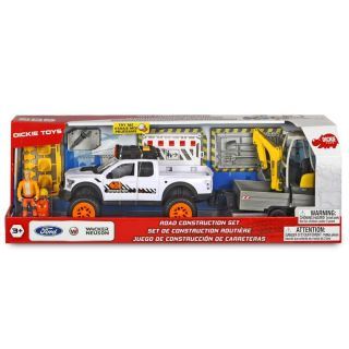 203838004 Dickie Toys Playlife SUV Ford Raptor Road Construction Set Licht u. Sound